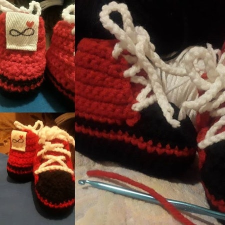 High Top Crochet Baby Shoes