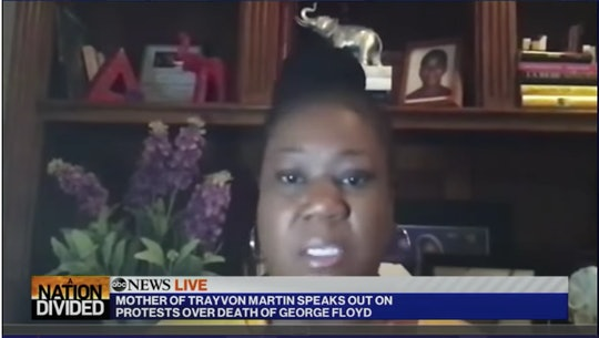 Sybrina Fulton reacts to the death of George Floyd