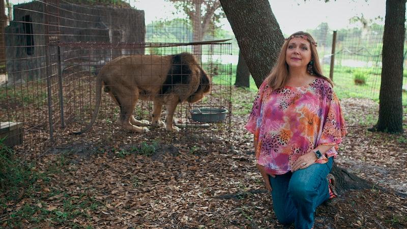 Carole Baskin in 'Tiger King' via Netflix press site