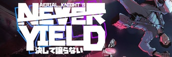 Aerial_Knight's Never Yield Key art protagonist steam