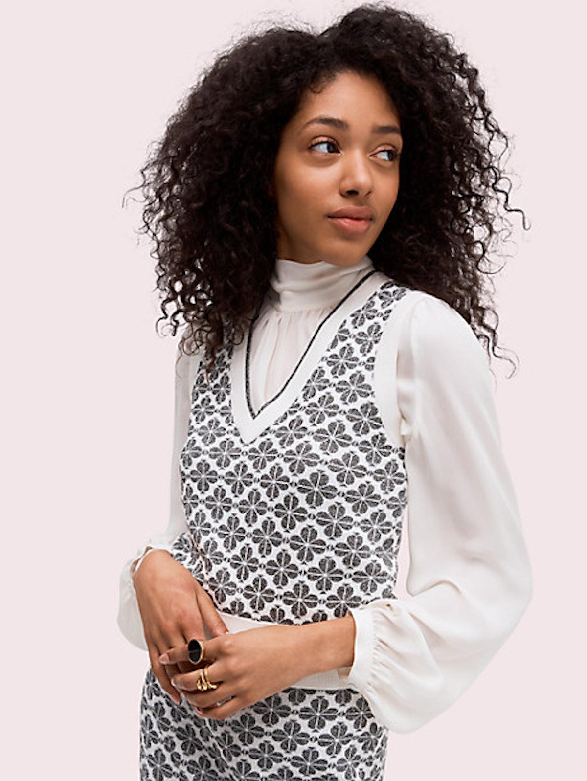 Kate Spade Spade Flower Sweater Vest