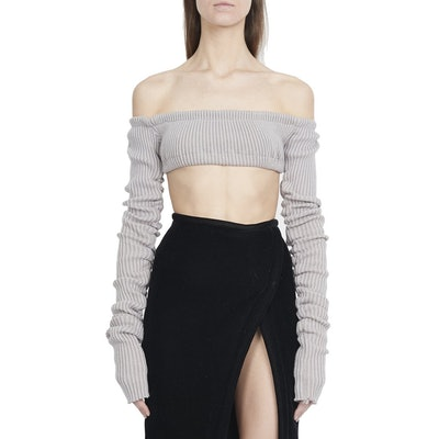 Lisa Marie Knit Top in Grey
