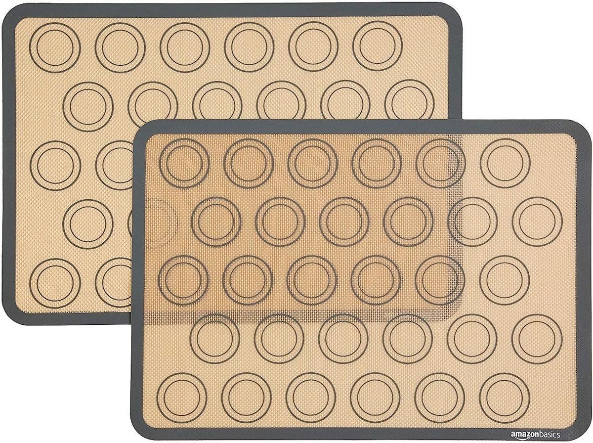 AmazonBasics Silicone, Non-Stick Baking Mat (2-Pack)