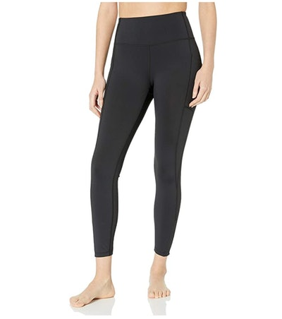 Core 10 Women's High Waist Yoga Scallop Mesh Legging with Pockets