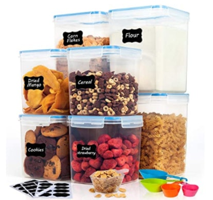 HOOJO Large Food Storage Containers (8 Pieces)