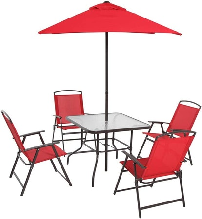 Mainstays Albany Lane Folding Seating Set (6 Pieces)