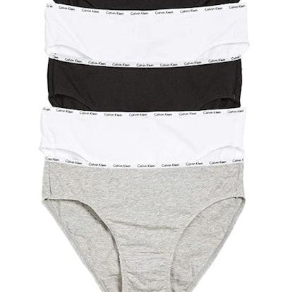 Calvin Klein Women's Cotton Stretch Logo Bikini Panty (5-Pack)