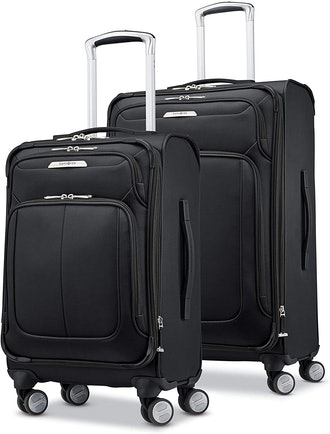 Samsonite Solyte DLX Softside Expandable Luggage with Spinner Wheels, Midnight Black, 2-Piece Set