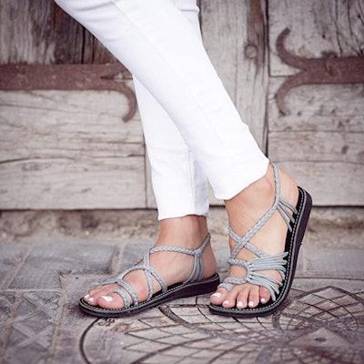 Plaka Palm Leaf Sandals