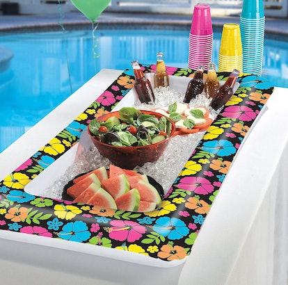 Neon Hibiscus Inflatable Buffet Cooler