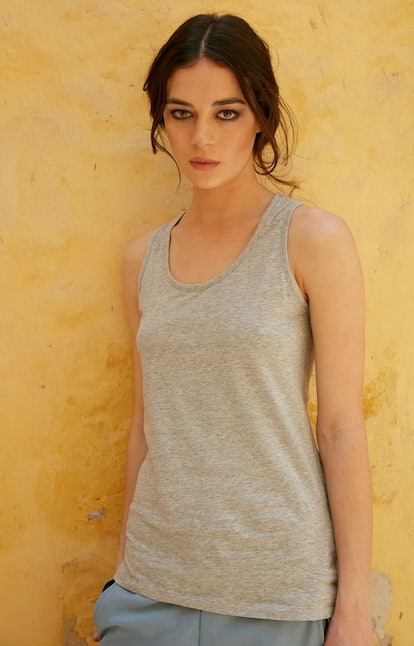 Spatial Purity - Luxurious Tank in Heather Gray