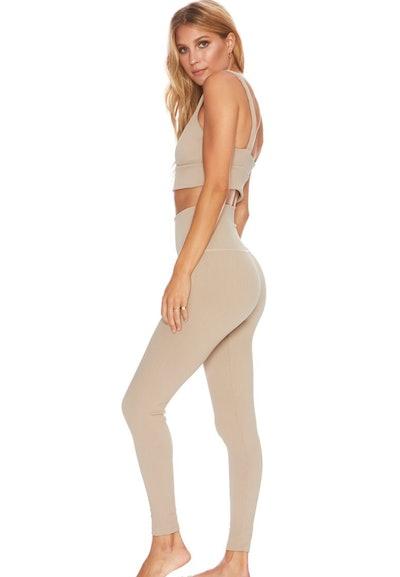 Ribbed Ayla Legging Tan
