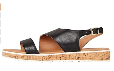 find. Women's Assymetric Cork Sole Leather