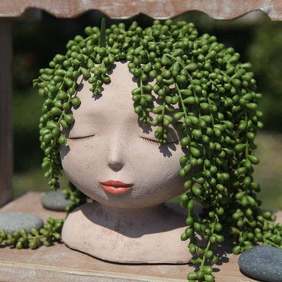 Yikush Female Head Plant Pot