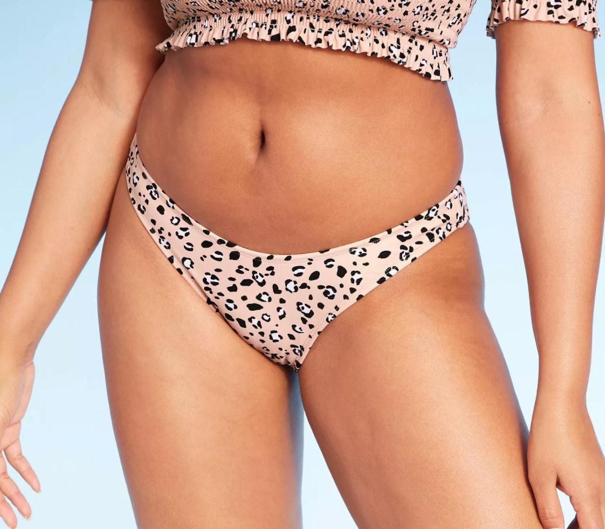 High Leg Scoop Bikini Bottom - Xhilaration™ Animal Print