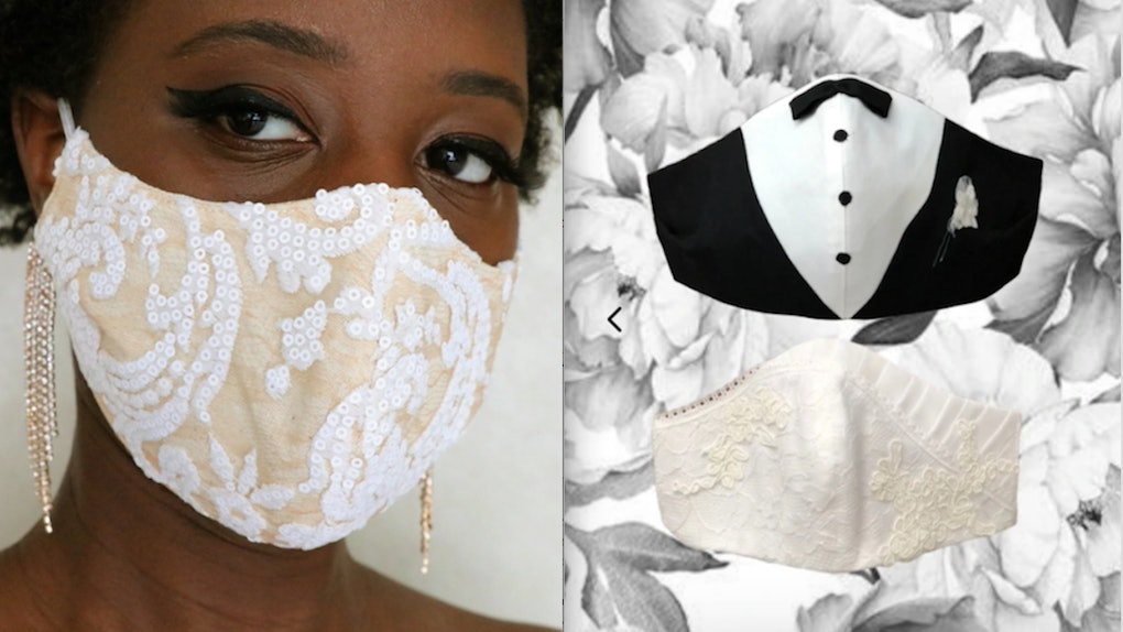 10 Face Masks To Wear On Your Wedding Day That Make Safety Look
