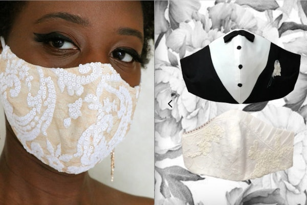 These face masks to wear on your wedding day make safety look stylish.