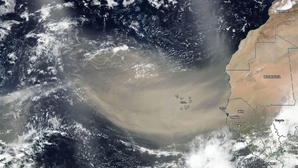 Saharan Dust Plume captured by NASA satellite