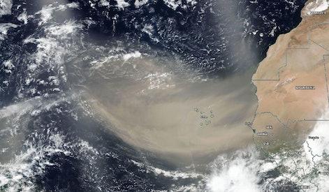 Saharan Dust Plume captured by NASA satellite