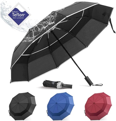 BANANA Windproof Folding Rain Umbrella