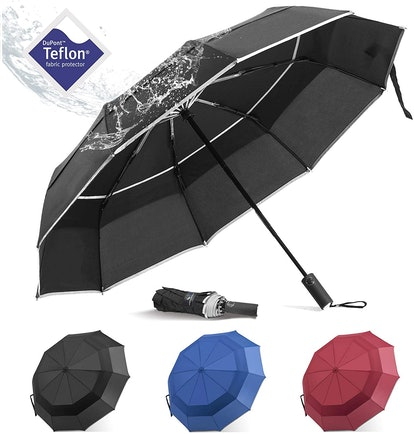 BANANA Windproof Folding Rain Umbrella