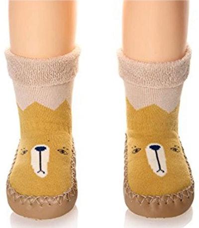 Eocom Non-Skid Indoor Slipper Shoe Socks