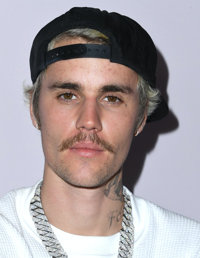 "Justin Bieber arrives at the Premiere Of YouTube Originals' ""Justin Bieber: Seasons"" at Regency Bruin Theatre on January 27, 2020 in Los Angeles, California."