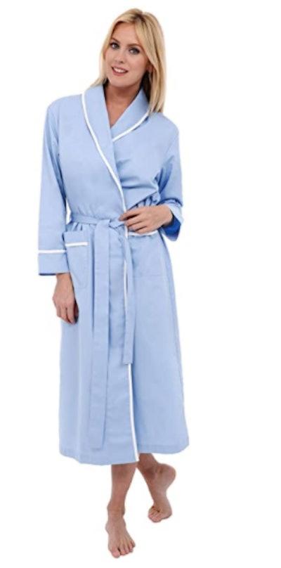 Alexander Del Rossa Lightweight Cotton Kimono Robe