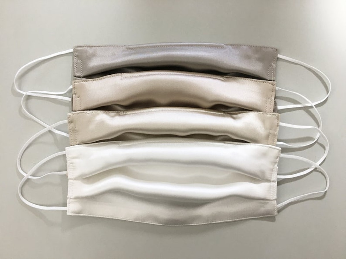 Double layered Silk Satin Face Mask - Filter Pocket Option Available