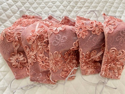 Handmade Pink Laced Facial Mask