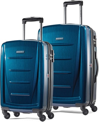 Samsonite Winfield 2 Hardside Expandable Luggage with Spinner Wheels, Deep Blue, 2-Piece Set