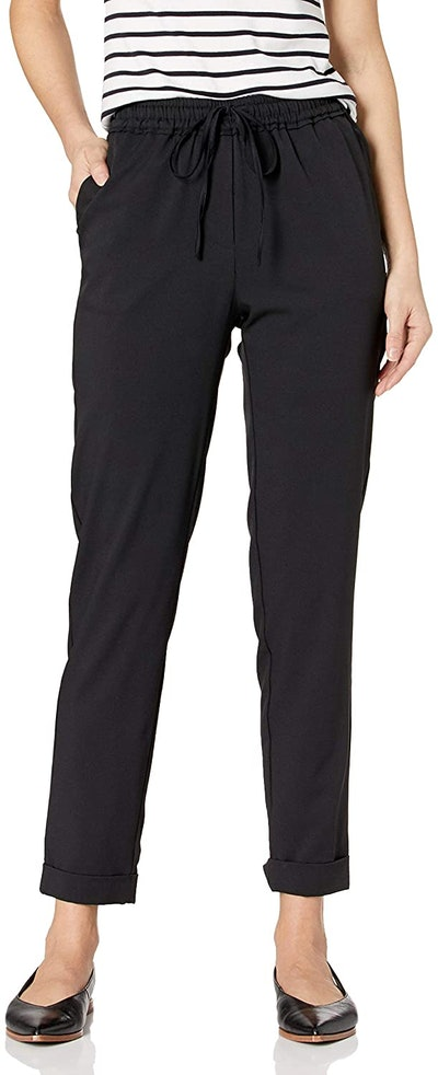 Daily Ritual Women's Stretch Woven Twill Cuffed Pant
