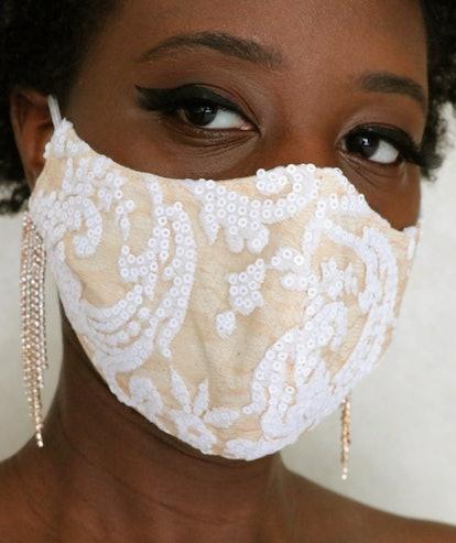Bridal Lace Face Mask