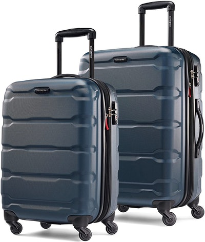 "Samsonite Omni Hardside Expandable 2-Piece Luggage Set 20"" & 24"" with Spinner Wheels"
