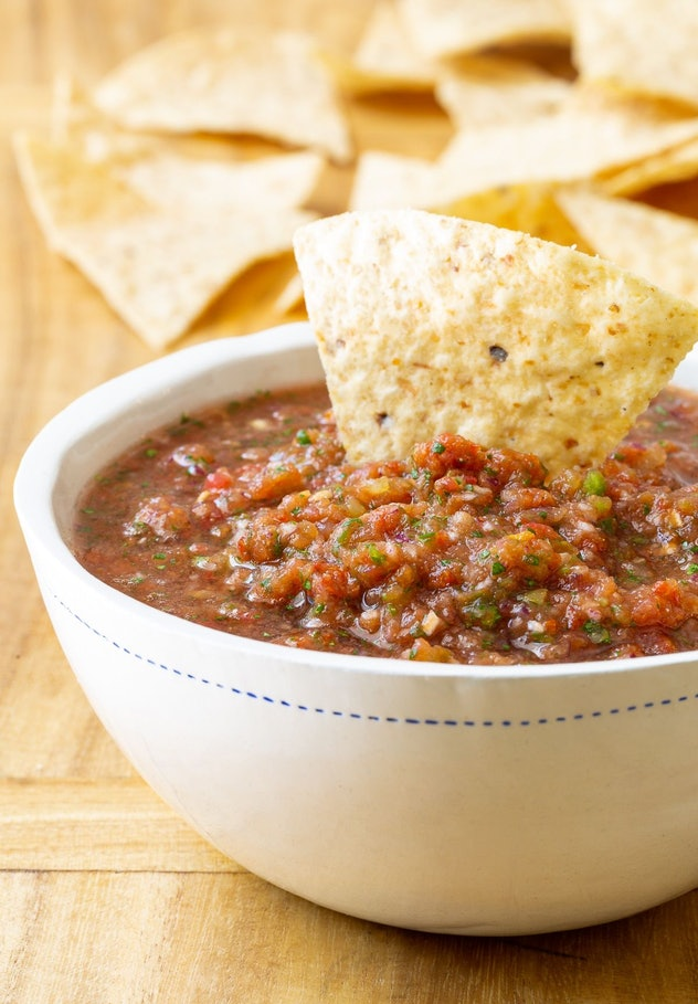 This homemade salsa from A Spicy Perspective is a summer dip recipe with a kick.