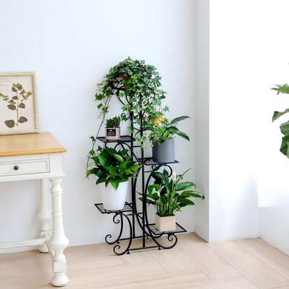 unho Wrought Iron Tall Plant Stand