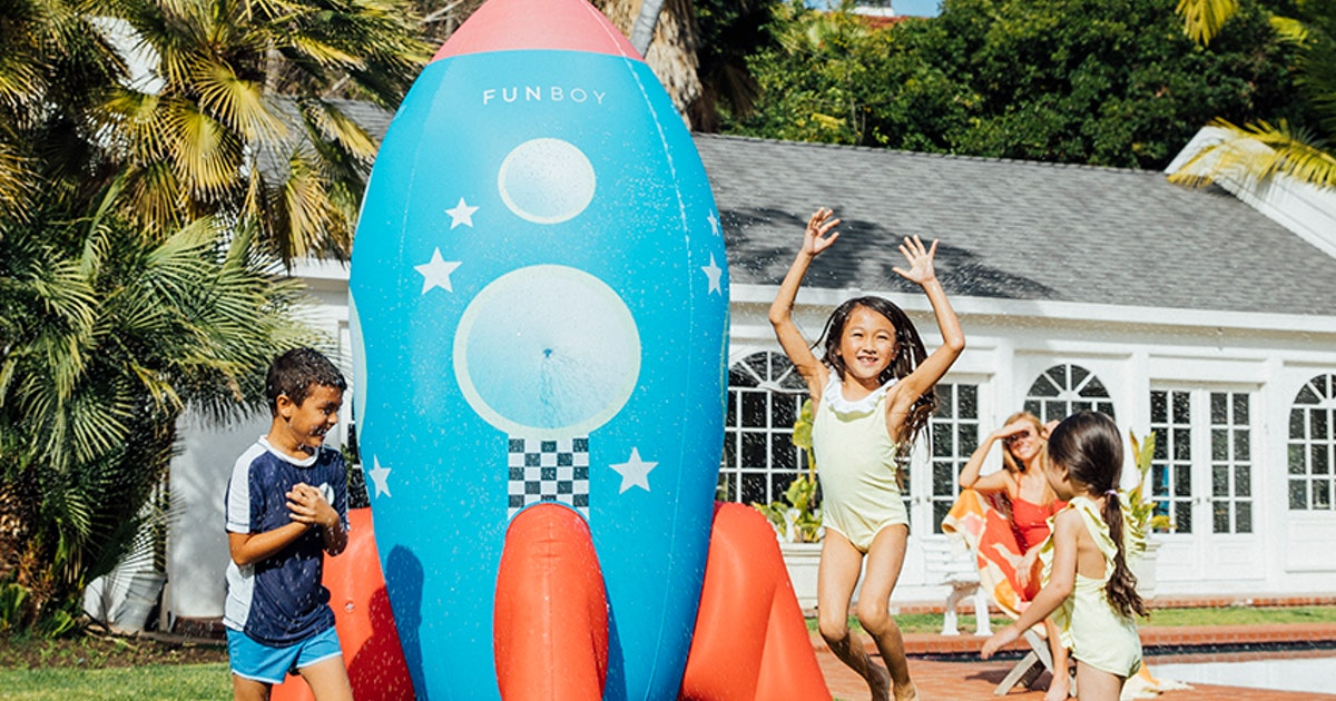 Yep, A Backyard Rocketship Sprinkler Is Exactly What Your Summer Needs