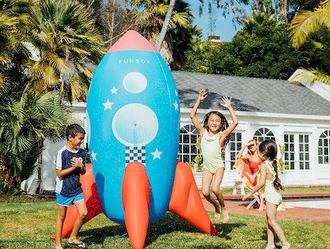 Backyard Rocketship Sprinkler