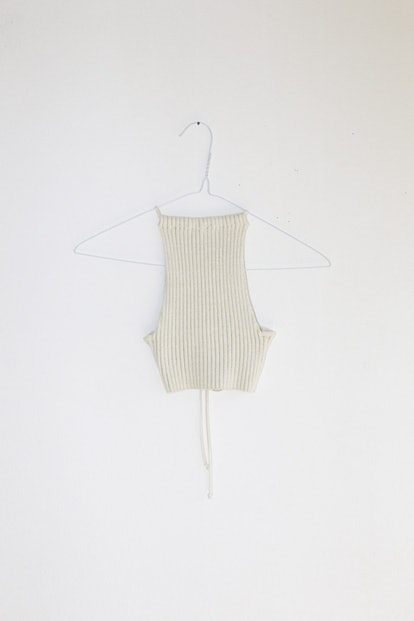 "NONNA ""Swim"" Halter In Ivory Gold"