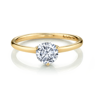 Large Solitaire White Topaz Ring