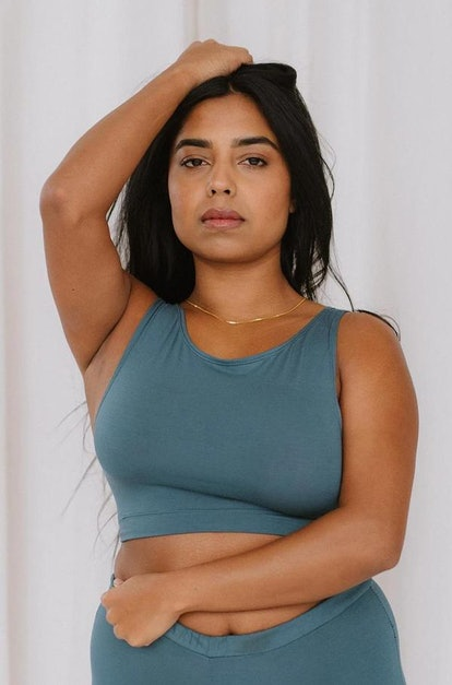 Wallace Crop In Teal