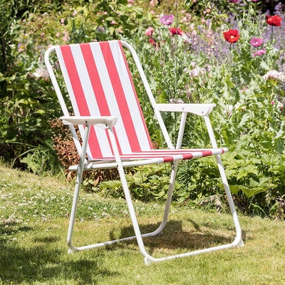Harbour Housewares Folding Portable  Deck Chair - Pack of 4
