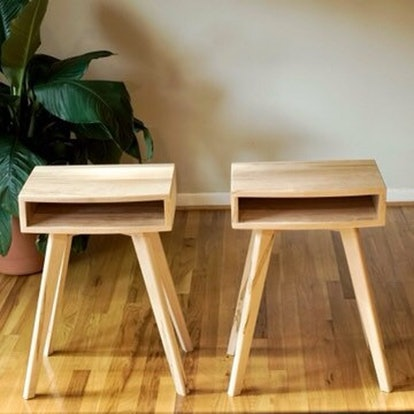 Scandinavian End Tables, Cubby End Tables