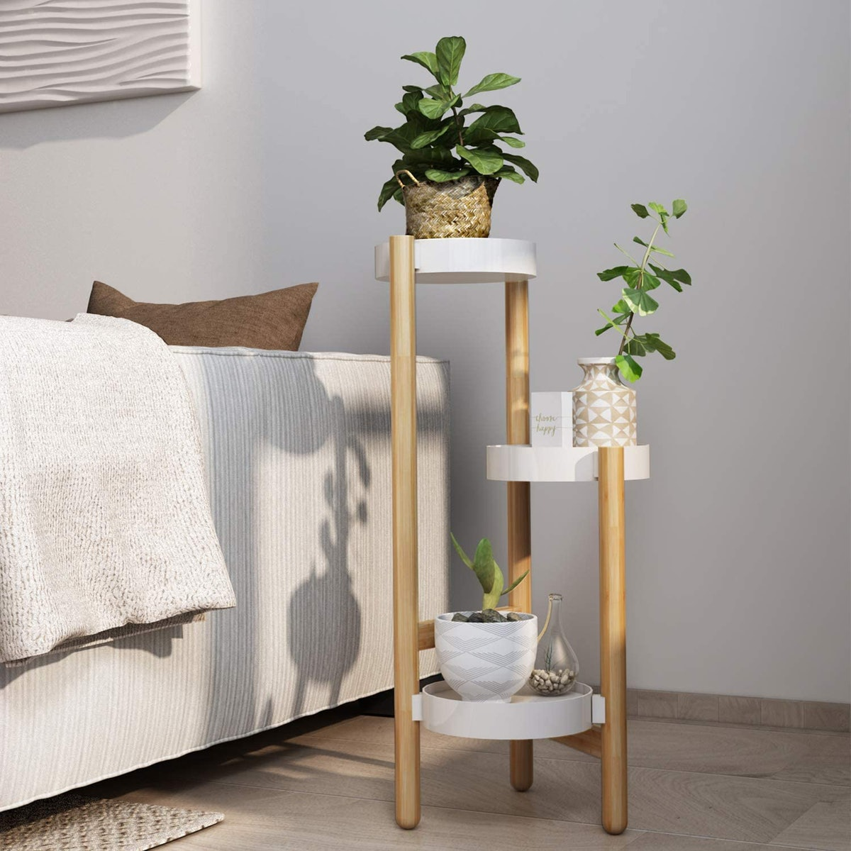 LONTAI Bamboo Plant Stand
