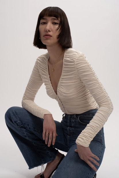 Silk Ruched Top
