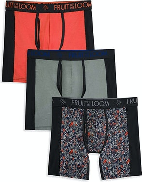 Fruit Of The Loom Men's Breathable Ultra Flex Boxer Brief (3-Pack)