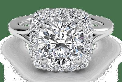 1.8 Carat Cushion Diamond Ring