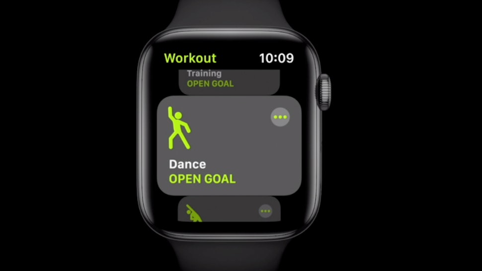 A dance workout on apple watch watch OS7