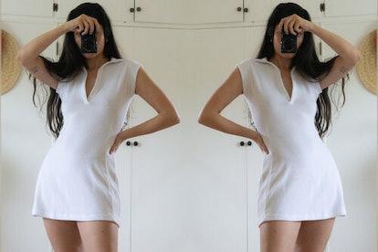 Coco Terry Tennis Dress - White