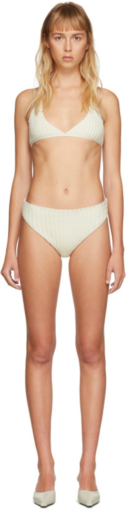 SSENSE Exclusive Off-White Cashmere Lingerie Set